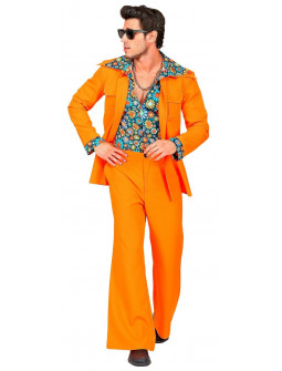 Traje Disco Años 70 Naranja para Hombre