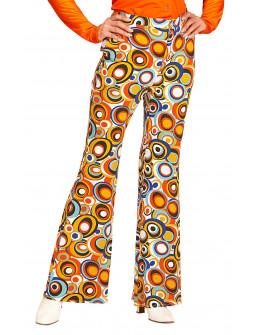 Pantalones de Campana Disco Multicolor para Mujer