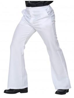 Pantalón de Campana Disco Blanco para Hombre
