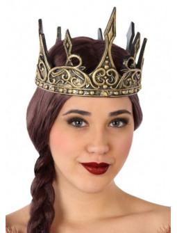 Corona de Reina Medieval Dorada de Foam