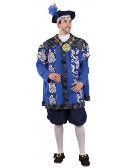 Disfraz de Príncipe Renacentista Azul para Hombre