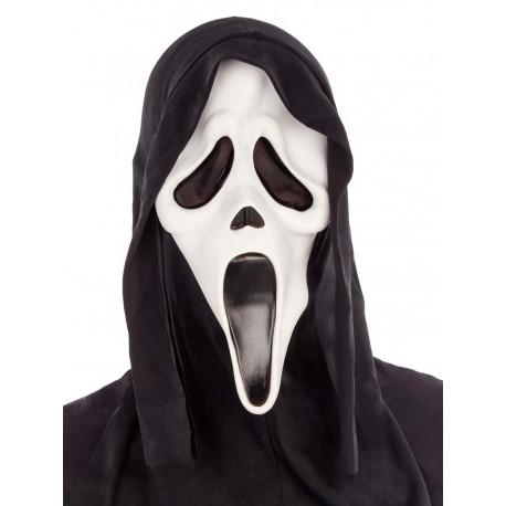 Máscara de Scream de Látex con Capucha
