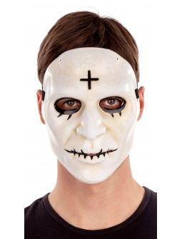 Máscara de La Purga Blanca con Cruz Negra