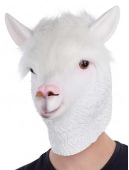 Máscara de Llama Blanca con Pelo