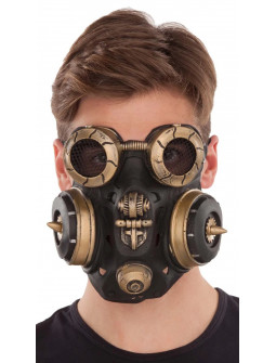 Máscara de Gas Steampunk de Látex