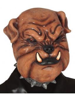 Máscara de Perro Bulldog de Látex