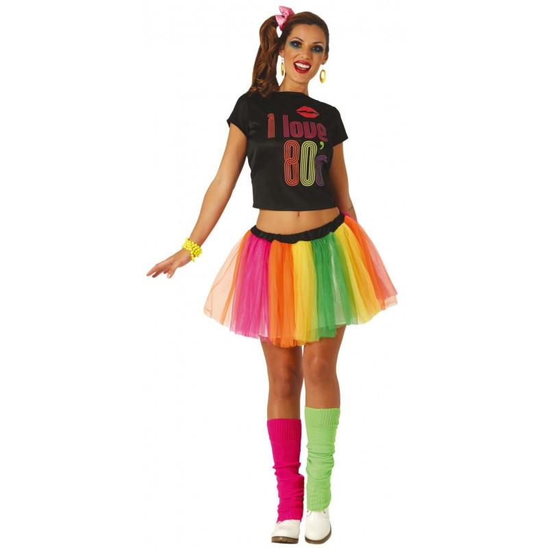 Disfraz de Chica Años 80 para Mujer - Comprar Online