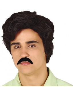 Peluca de Pablo Escobar con Bigote