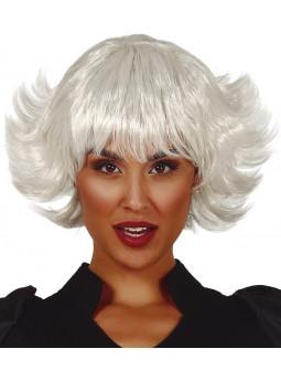 Peluca Blanca Corta para Mujer