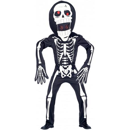Disfraz de Esqueleto con Máscara Gigante Infantil