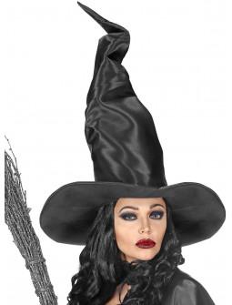 Sombrero de Bruja Largo Negro