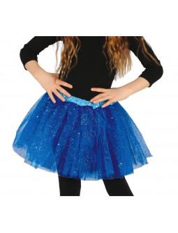 Tutú Azul Marino con Purpurina para Niña