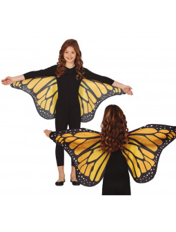 Alas de Mariposa Naranja de Tela Infantiles
