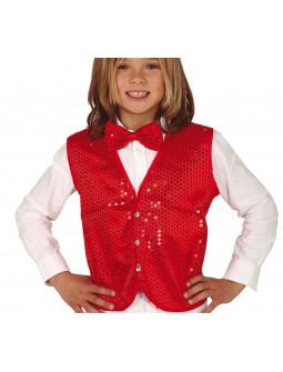 Chaleco Rojo con Lentejuelas Infantil