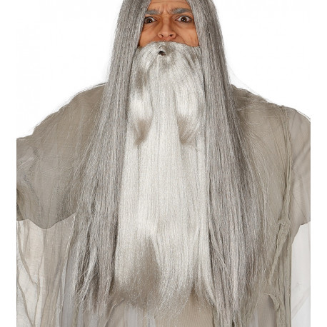 Barba de Mago Gris Extra Larga