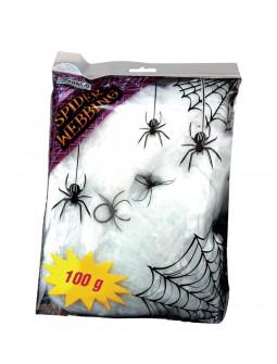 Bolsa de Telarañas con Arañas Negras de 100g