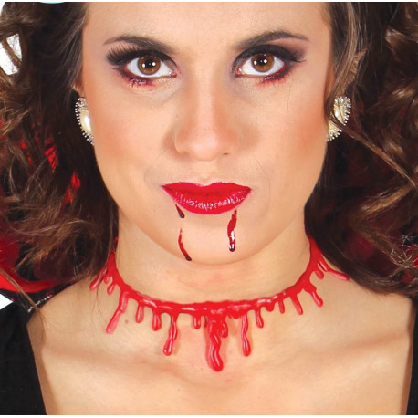Collar de Corte Sangriento en el Cuello