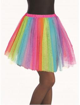 Tutú Multicolor Largo de 40cms para Mujer