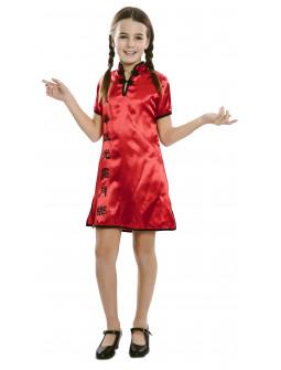 Disfraz de China Tradicional Rojo para Niña