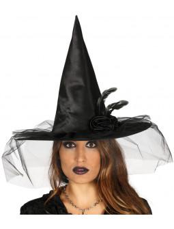 Sombrero de Bruja Negro Decorado