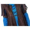 Disfraz de Princesa Medieval Azul Corto para Mujer