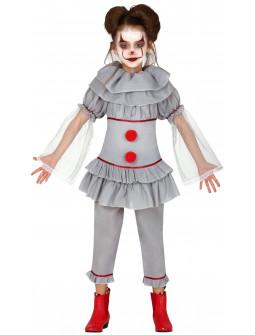 Disfraz de Payasa Diabólica Penny para Niña
