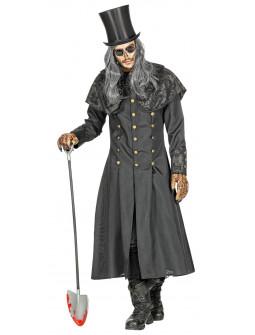 Disfraz de Enterrador con Abrigo Largo para Hombre