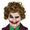 Peluca de Joker Villano Loco