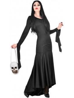 Disfraz de Morticia Elegante para Mujer
