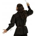 Camisa Medieval Negra para Adulto