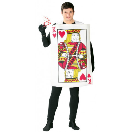 Disfraz de Carta de Poker Rey de Corazones para Adulto