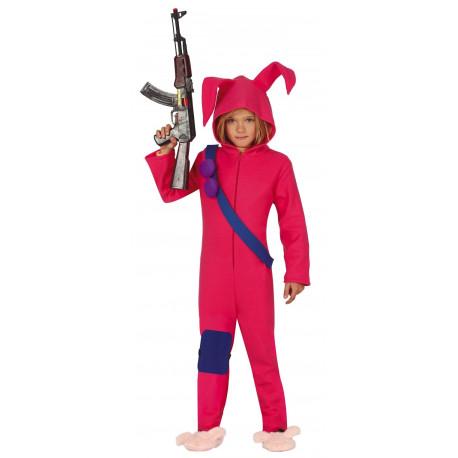 Disfraz de Conejo Rosa Fortnite Infantil