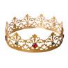 Corona de Rey Mago de Metal con Piedras Preciosas