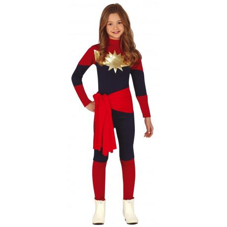 Disfraz de Capitana Marvel Infantil