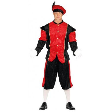 Disfraz de Paje Reyes Magos Rojo para Hombre