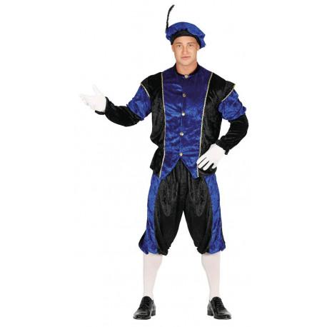 Disfraz de Paje Reyes Magos Azul para Hombre