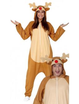 Disfraz de Reno Rudolf Pijama para Adulto