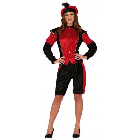 Disfraz de Paje Reyes Magos Rojo para Mujer