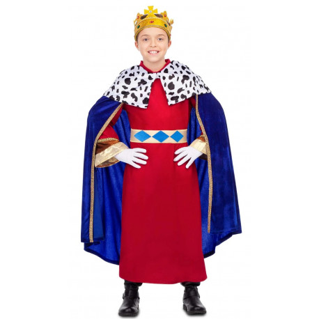 Disfraz de Rey Mago con Capa Azul Infantil