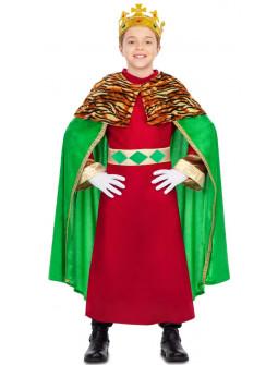 Disfraz de Rey Mago con Capa Verde Infantil