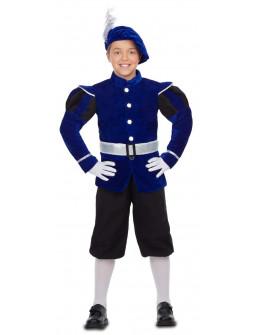 Disfraz de Paje Reyes Magos Azul para Niño
