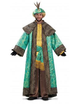 Disfraz de Rey Mago Baltasar con Capa para Hombre