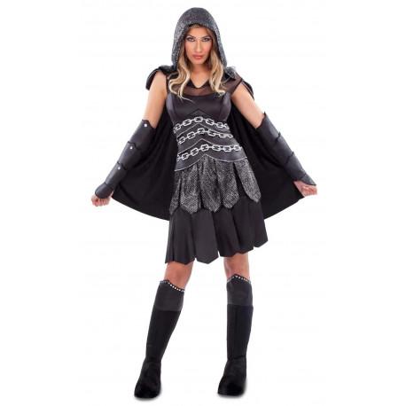 Disfraz de Guerrera Medieval Tenebrosa para Mujer