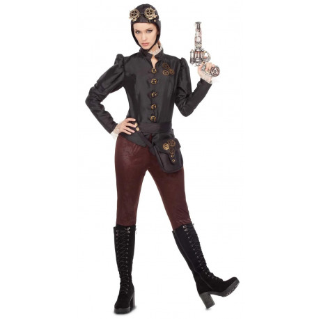 Disfraz de Aviadora Steampunk para Mujer
