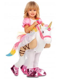 Disfraz de Unicornio con Niña a Hombros