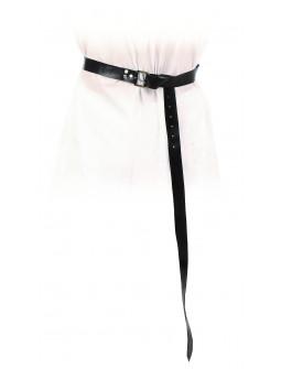 Cinturón Medieval Negra Largo