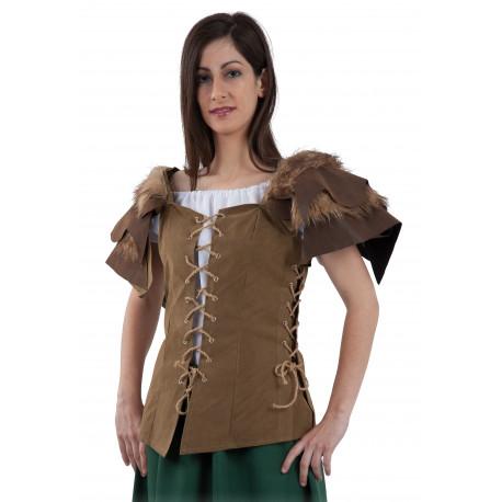 Chaleco Corset de Campesina Medieval para Mujer