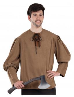 Camisa Medieval Marrón para Hombre