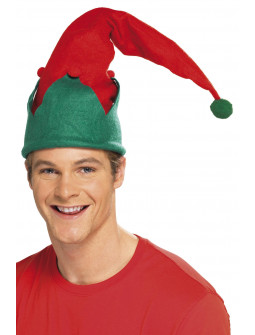 Gorro de Elfo de Papá Noel para Adulto