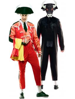 Disfraz Doble Torero y Toro para Adulto
